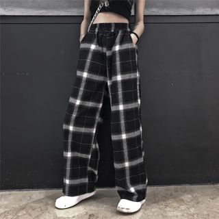 LINSI - Plaid Wide Leg Pants