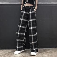 LINSI - Plaid Wide Leg Pants