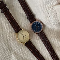 Betsuno - Faux Leather Strap Watch