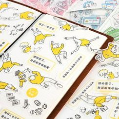 Paper House - Cartoon Sticker (various designs)