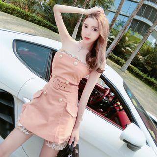 Princess Road - Set: Strapless Playsuit + Strapless Mini A-Line Dress