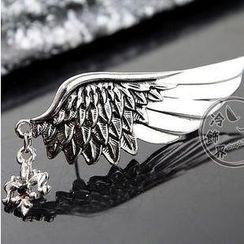Trend Cool - Rhinestone Wing Brooch