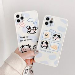 Primitivo(プリミティーボ) - Cow Print Phone Case - iPhone 12 Pro Max / 12 Pro / 12 / 12 mini / 11 Pro Max / 11 Pro / 11 / SE / XS Max / XS / XR / X / SE 2 / 8 / 8 Plus / 7 / 7 Plus