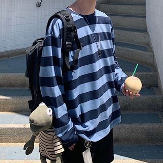 CooLook - Long-Sleeve Striped T-Shirt