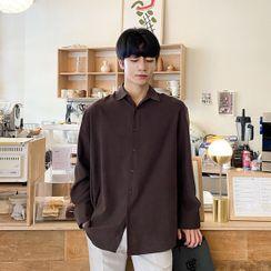 Seoul Homme(ソウルオム) - Faux-Suede Boxy Shirt