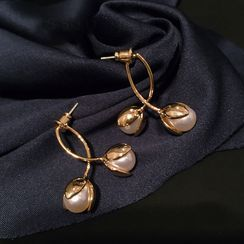 DREN - Faux Pearl Dangle Earring / Necklace