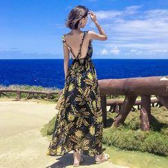 NoCoast - Print Sleeveless Maxi Sun Dress