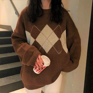 Autumn Memoir - Argyle Sweater