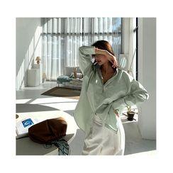 NANING9 - Wide-Cuff Cotton Shirt