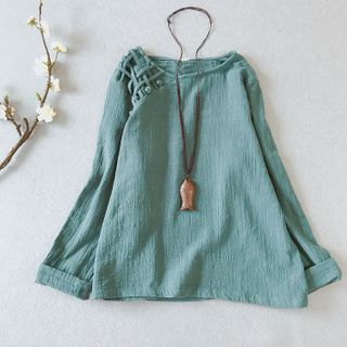 Vateddy - Long-Sleeve Hanfu Top