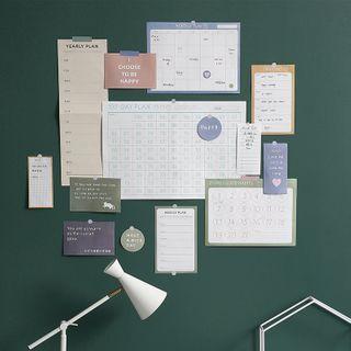 Padeen - Set: Wall Planner + Memo Pad + Sticker