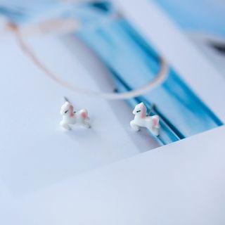 Heliotrope - 陶瓷馬仔耳釘