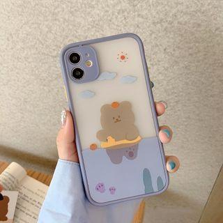 SIFFU - Bear Print Transparent Phone Case - iPhone 11 Pro Max / 11 Pro / 11 / SE / XS Max / XS / XR / X / SE 2 / 8 / 8 Plus / 7 / 7 Plus