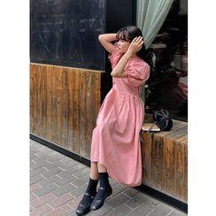 Aisicle - 泡泡袖A字連衣中裙