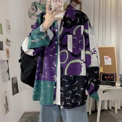 Acrius(アクリウス) - Patterned Shirt Jacket