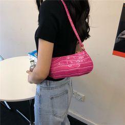 Masen - Faux Leather Zip Hobo Bag