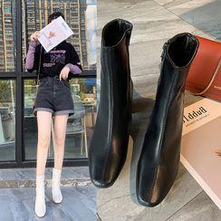 Moonwalk - Chunky Heel Short Boots