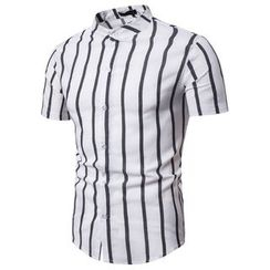 Cowofox - Striped Short-Sleeve Shirt