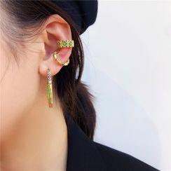 Sexy Tokyo - Rhinestone Ear Cuff / Hoop Earring