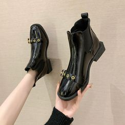 Nikao - 饰扣低跟及踝靴