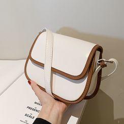 JAMEL - Faux Leather Flap Crossbody Bag