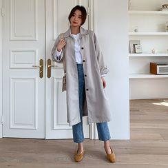 Envy Look - Hidden Button Trench Coat