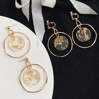 Admae - 戒指耳坠 / 夹式耳环
