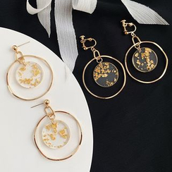 Admae - Gold Foil Dangly Earrings
