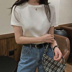 Magimomo - Short-Sleeve Ribbed T-Shirt