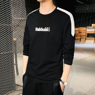 Denimic - Long-Sleeve Lettering T-Shirt