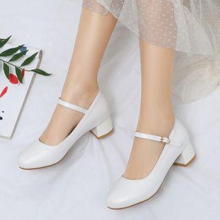 Shoes Galore - Block-Heel Ankle-Strap Pumps