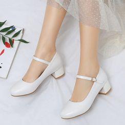 佳美 - 粗跟踝帶鞋