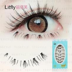 Litfly - Eyelash #406 (10 pairs) (Mixed Style)