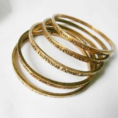 Cheermo - Embossed Letter Bangle