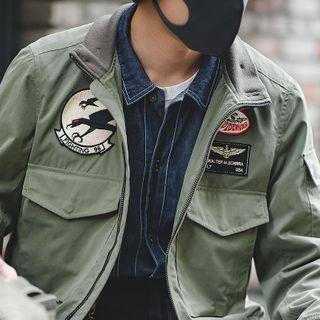 Maden - Badge Applique Bomber Jacket
