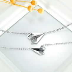 Tenri - Couple Matching Paper Plane Necklace