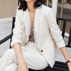 Princess Min - Lace Trim Blazer / Dress Pants