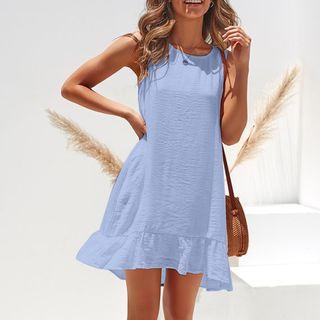 Bemuzee - Sleeveless Ruffle Hem Mini A-Line Dress