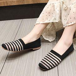 Cumuggo - 条纹针织轻便鞋