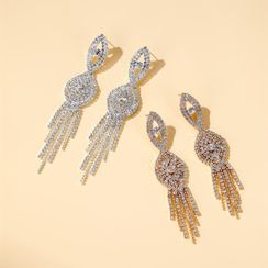 Cheermo - Rhinestone Chandelier Earring