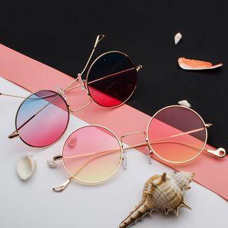 Aisyi - Gradient Round Sunglasses