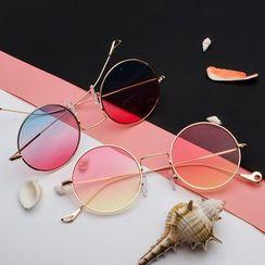 Aisyi - 漸變色圓形太陽眼鏡
