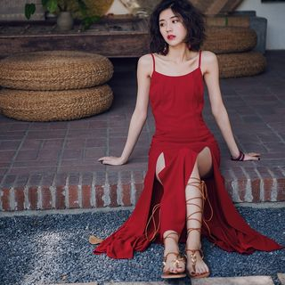 Yuxi - Strappy Backless Maxi Sundress