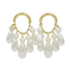 KATENKELLY - Cluster Chandelier Earrings (Pearl)