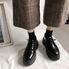 Putcho(プッチョ) - Platform Lace-Up Loafers