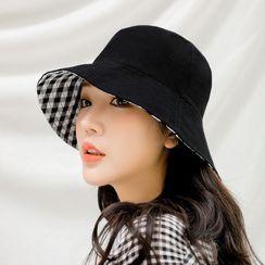 Eva Fashion - 雙面格子漁夫帽