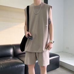 Obikan - 套裝: 無袖T裇 + 運動短褲