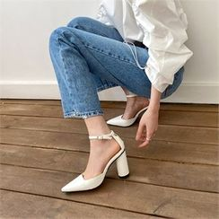 MONOBARBI - Ankle-Strap Block-Heel Sandals