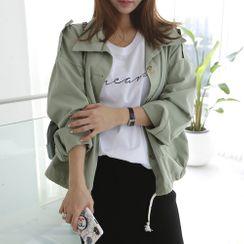 DANI LOVE - Pocket-Detail Cotton Jacket