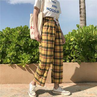Guajillo - Wide Leg Plaid Pants